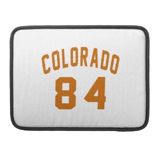 Colorado 84 Birthday Designs Sleeve For MacBooks