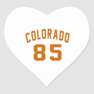 Colorado 85 Birthday Designs Heart Sticker