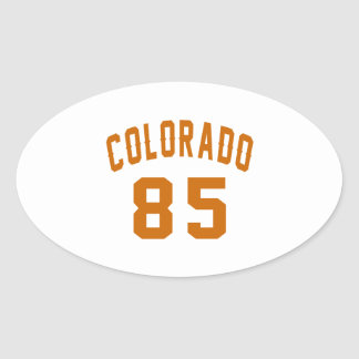 Colorado 85 Birthday Designs Oval Sticker