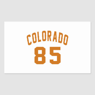 Colorado 85 Birthday Designs Rectangular Sticker