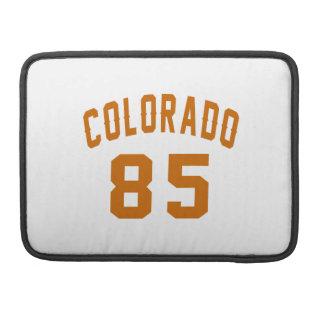 Colorado 85 Birthday Designs Sleeves For MacBooks