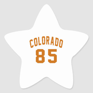 Colorado 85 Birthday Designs Star Sticker