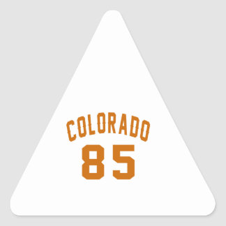 Colorado 85 Birthday Designs Triangle Sticker