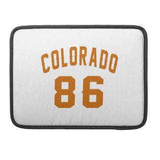 Colorado 86 Birthday Designs Sleeve For MacBooks