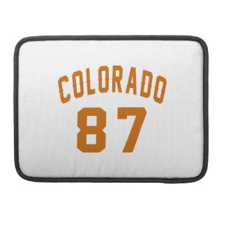 Colorado 87 Birthday Designs Sleeve For MacBooks