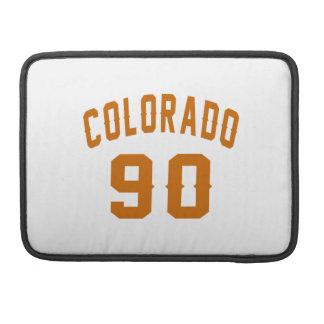Colorado 90 Birthday Designs Sleeve For MacBook Pro