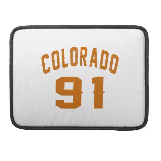 Colorado 91 Birthday Designs Sleeves For MacBook Pro