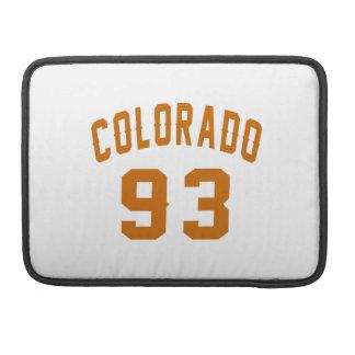 Colorado 93 Birthday Designs Sleeve For MacBooks