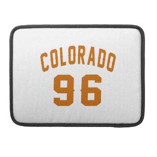Colorado 96 Birthday Designs Sleeves For MacBook Pro