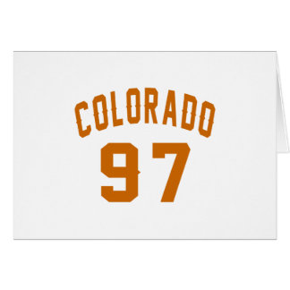 Colorado 97 Birthday Designs Card