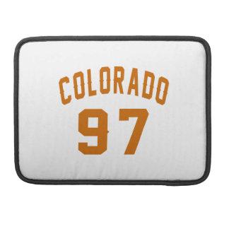 Colorado 97 Birthday Designs Sleeve For MacBook Pro