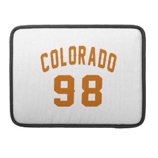 Colorado 98 Birthday Designs Sleeve For MacBook Pro