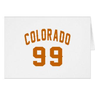 Colorado 99 Birthday Designs Card