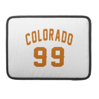 Colorado 99 Birthday Designs Sleeve For MacBook Pro