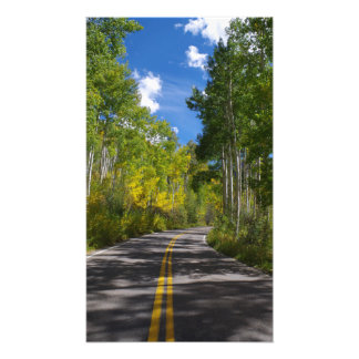 Colorado Autumn Road Print Photographic Print