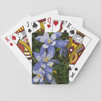 Colorado Blue Columbine near Telluride Colorado Playing Cards