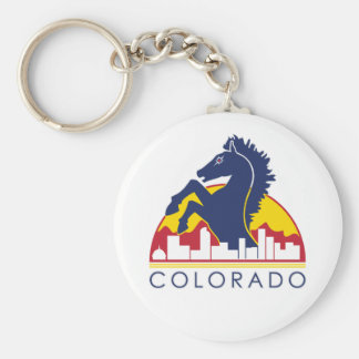 Colorado Blue Horse Key Ring
