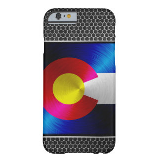 Colorado brushed metal flag barely there iPhone 6 case