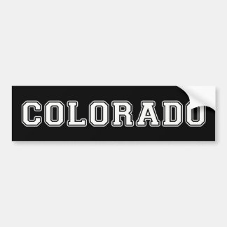 Colorado Bumper Sticker