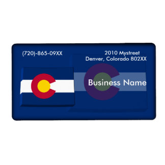 Colorado Business Label Shipping Label