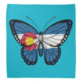 Colorado Butterfly Flag Bandanna