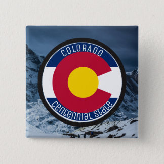 Colorado Circular Flag 15 Cm Square Badge