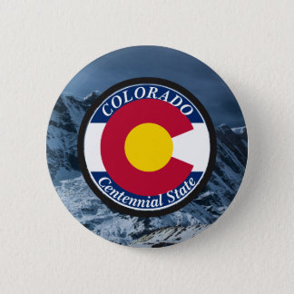 Colorado Circular Flag 6 Cm Round Badge