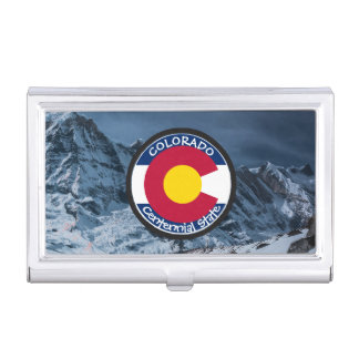Colorado Circular Flag Business Card Holder