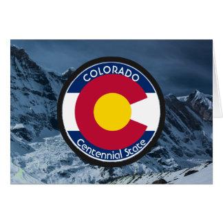 Colorado Circular Flag Card
