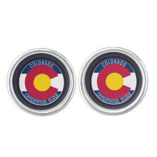Colorado Circular Flag Cufflinks