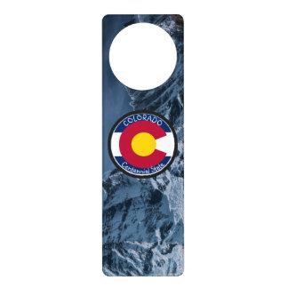 Colorado Circular Flag Door Hanger
