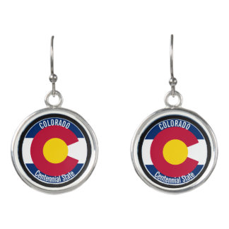 Colorado Circular Flag Earrings