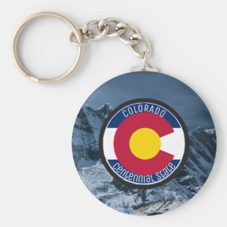 Colorado Circular Flag Key Ring