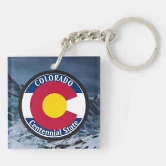 Colorado Circular Flag Key Ring