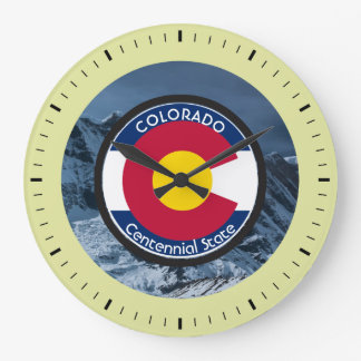 Colorado Circular Flag Large Clock