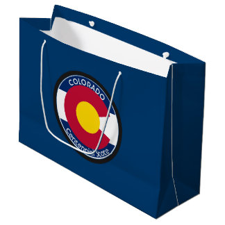 Colorado Circular Flag Large Gift Bag
