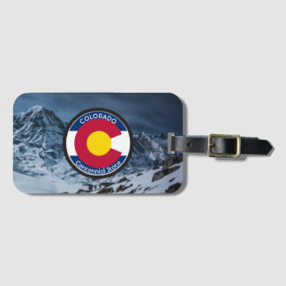 Colorado Circular Flag Luggage Tag
