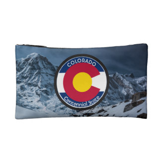 Colorado Circular Flag Makeup Bag
