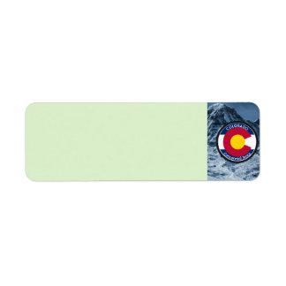 Colorado Circular Flag Return Address Label