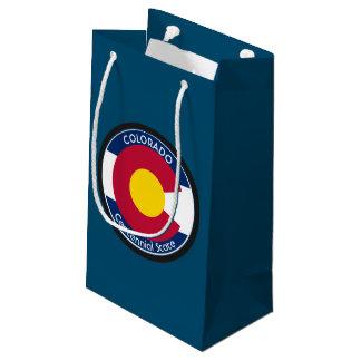 Colorado Circular Flag Small Gift Bag