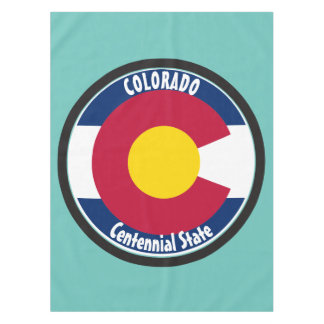 Colorado Circular Flag Tablecloth