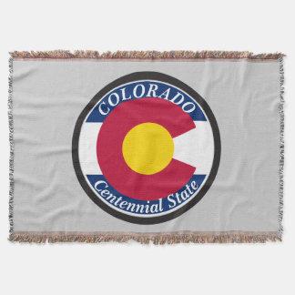 Colorado Circular Flag Throw Blanket