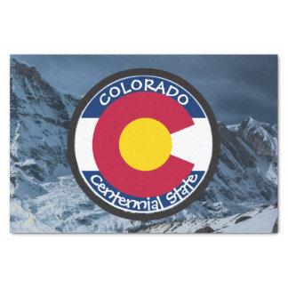 Colorado Circular Flag Tissue Paper