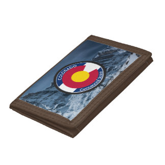 Colorado Circular Flag Tri-fold Wallets