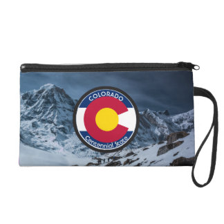 Colorado Circular Flag Wristlet Clutches