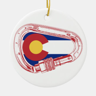 Colorado Climbing Carabiner Ceramic Ornament
