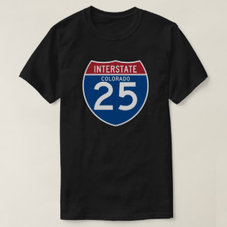Colorado CO I-25 Interstate Highway Shield - T-Shirt