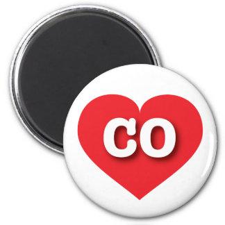 Colorado CO red heart Fridge Magnet