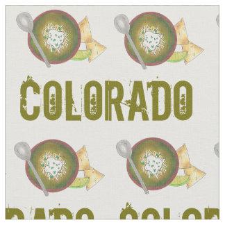 Colorado CO Style Green Pork Chili Verde Foodie Fabric