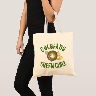 Colorado CO Style Green Pork Chili Verde Foodie Tote Bag